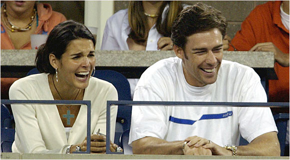 Angie Harmon had no idea that a simple appearance on 'The Tonight Show' would be one of the most memorable experiences of her life, but that's just what happened when her boyfriend, former NFL safety Jason Sehorn, showed up at the taping and proposed to her. The couple were introduced after Harmon attended a Giants game and have been married for over five years.